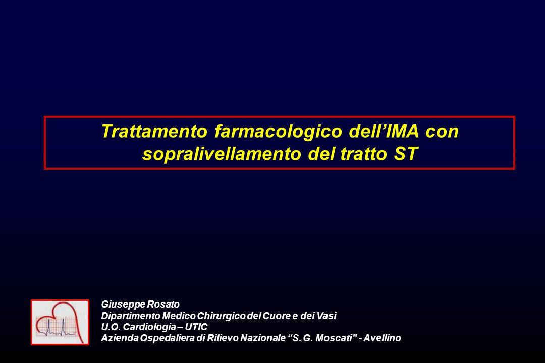Trattamento farmacologico dell'IMA con sopralivellamento del tratto ST
