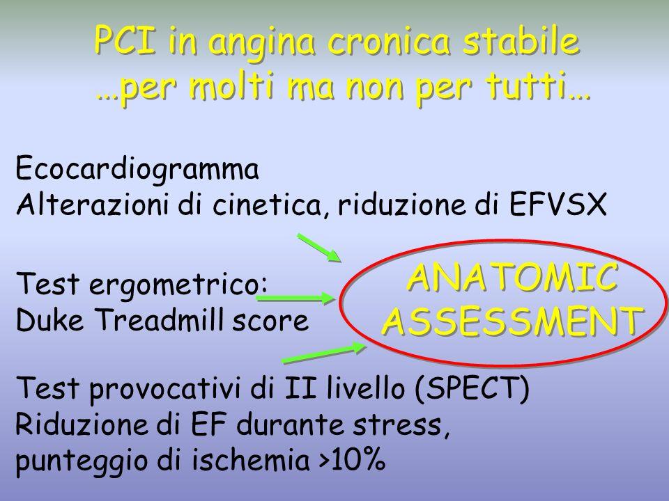 PCI in angina cronica stabile …per molti ma non per tutti…