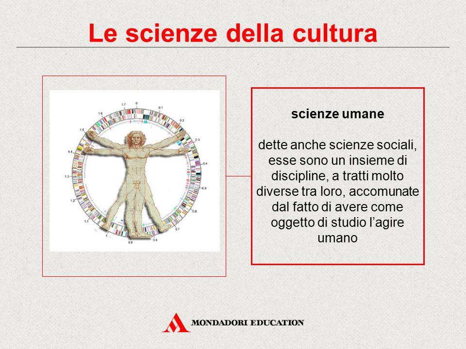 Le scienze della cultura