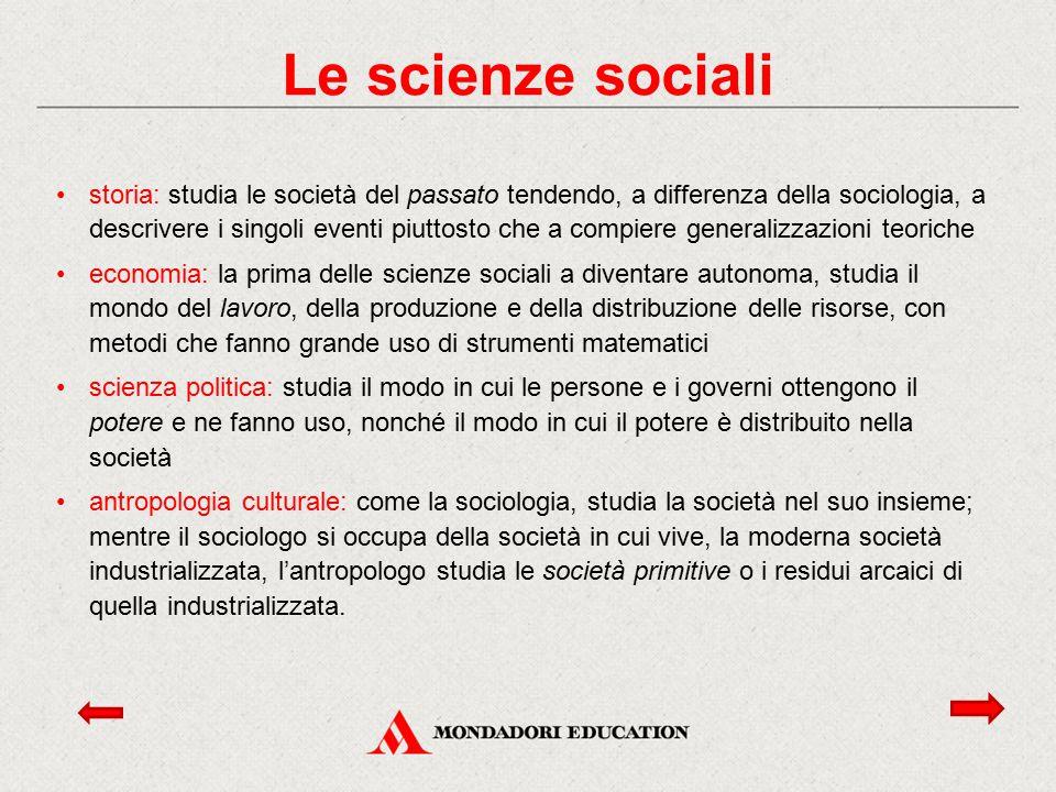 Le scienze sociali