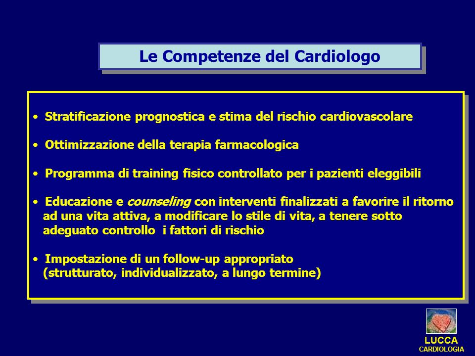 Le Competenze del Cardiologo
