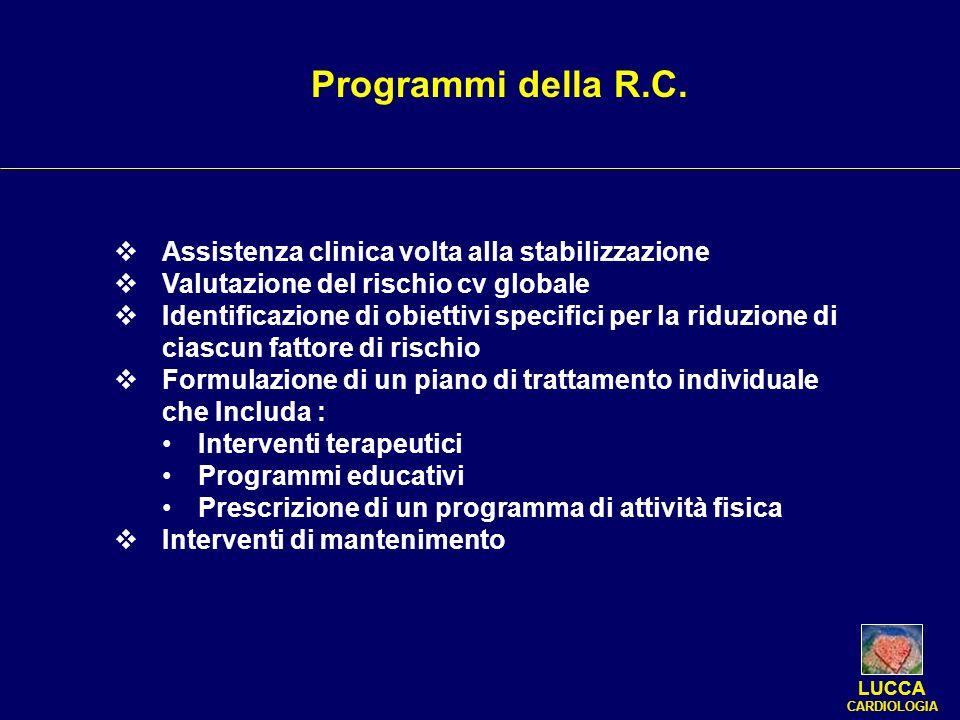 Programmi della R.C. Assistenza clinica volta alla stabilizzazione