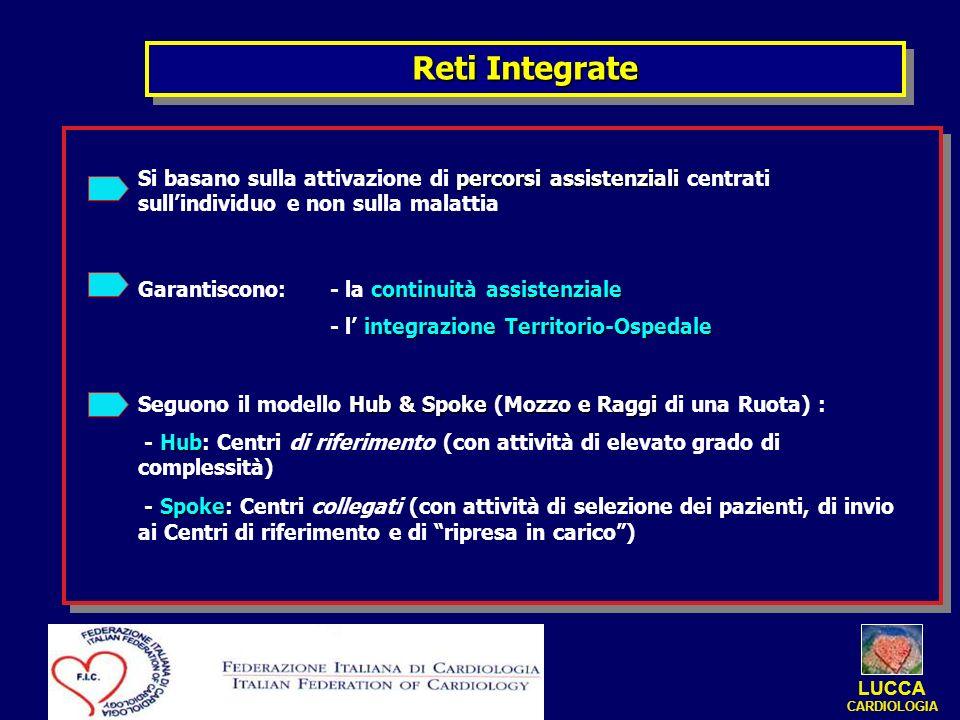 Reti IntegrateSi basano sulla attivazione di percorsi assistenziali centrati sull'individuo e non sulla malattia