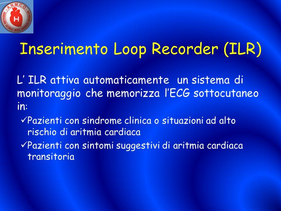 Inserimento Loop Recorder (ILR)