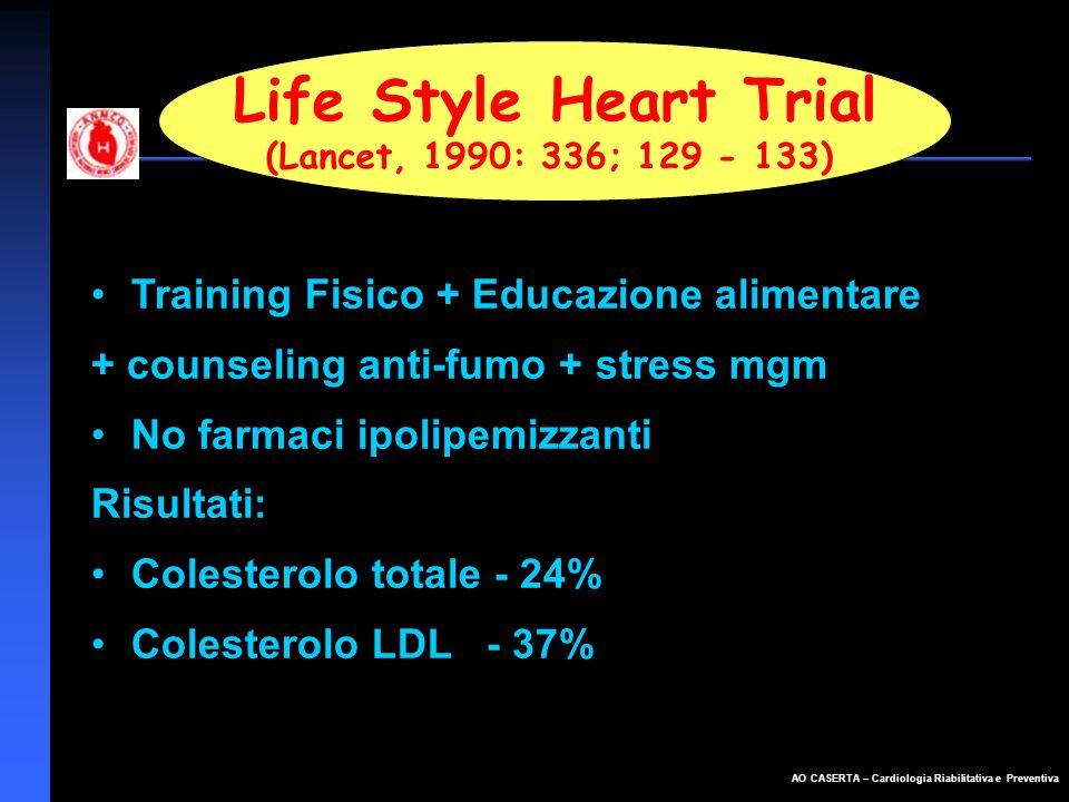 Life Style Heart Trial Training Fisico + Educazione alimentare