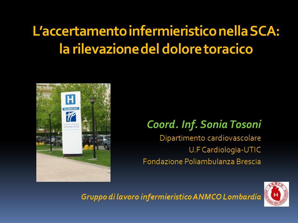L'accertamento infermieristico nella SCA: la rilevazione del dolore toracico
