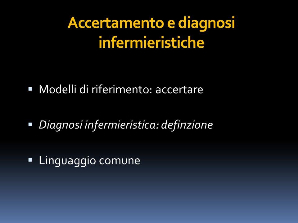 Accertamento e diagnosi infermieristiche