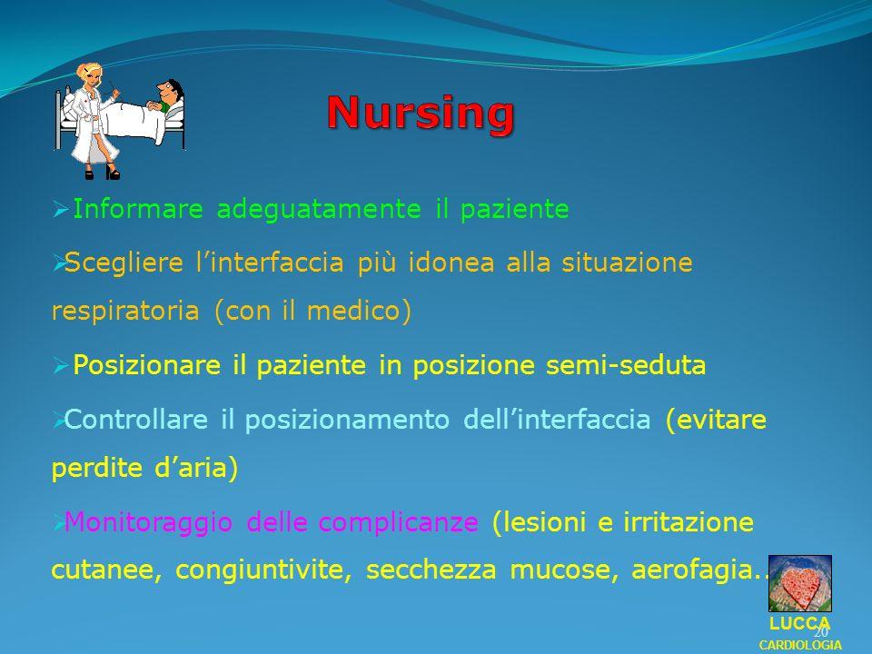 Nursing Informare adeguatamente il paziente