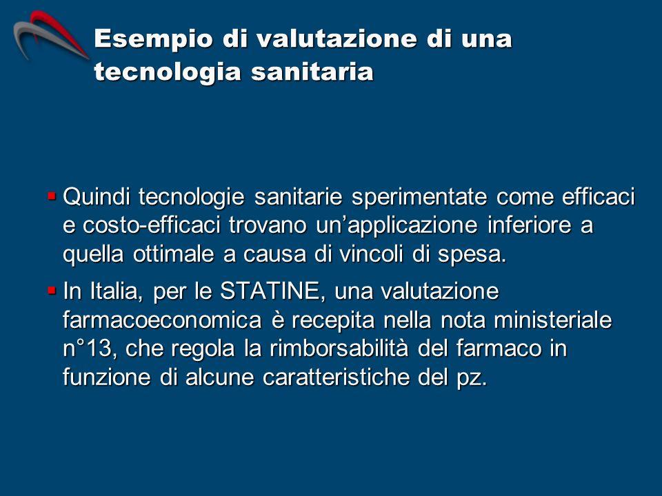 Esempio di valutazione di una tecnologia sanitaria