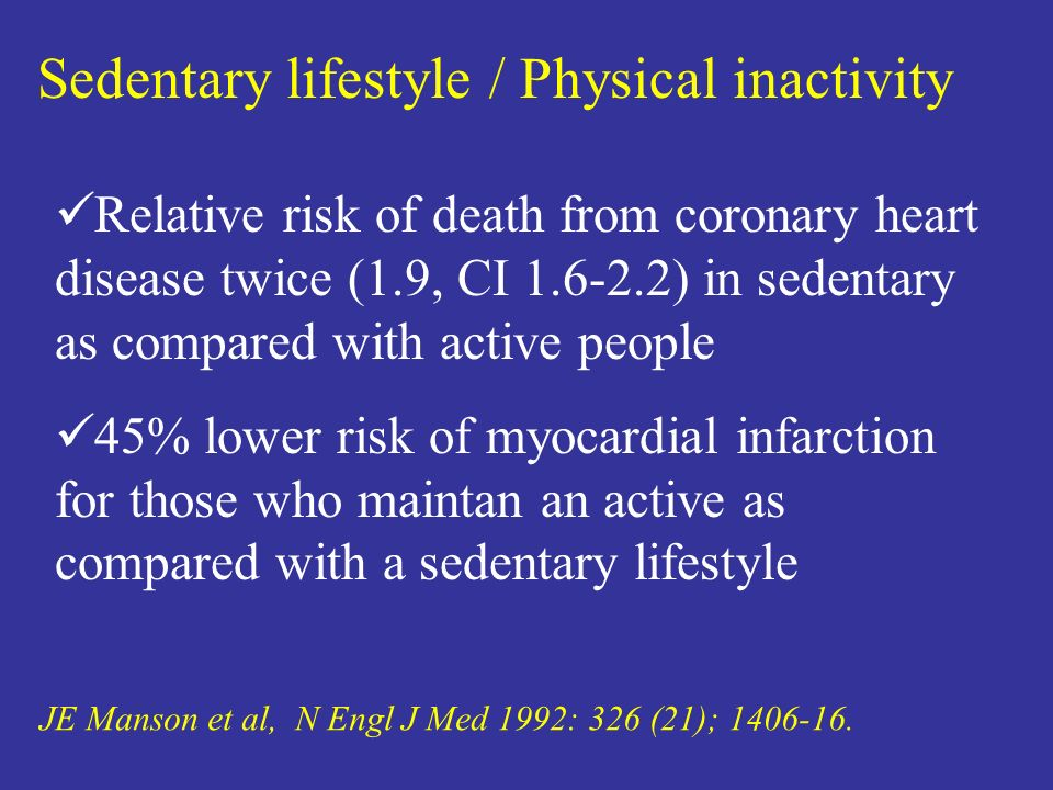 Sedentary lifestyle / Physical inactivity