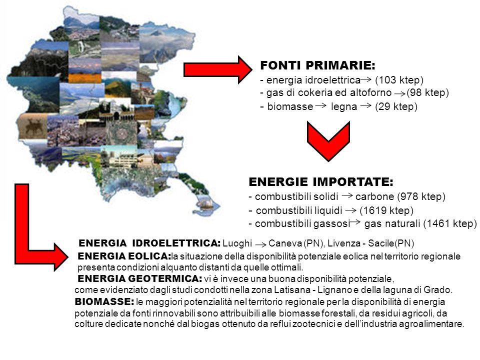 - biomasse legna (29 ktep)