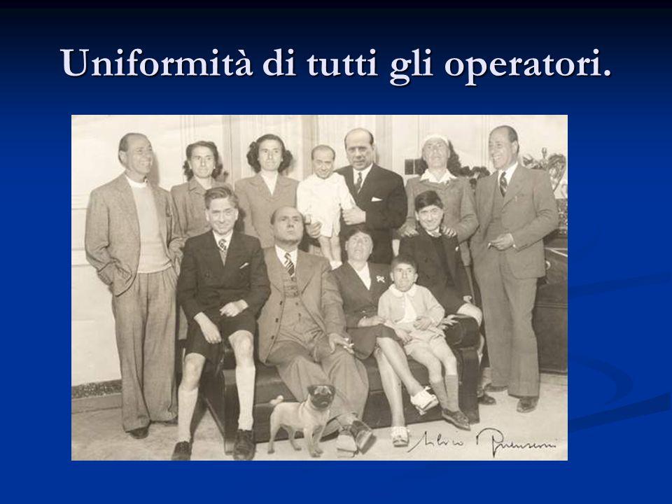 Uniformità di tutti gli operatori.