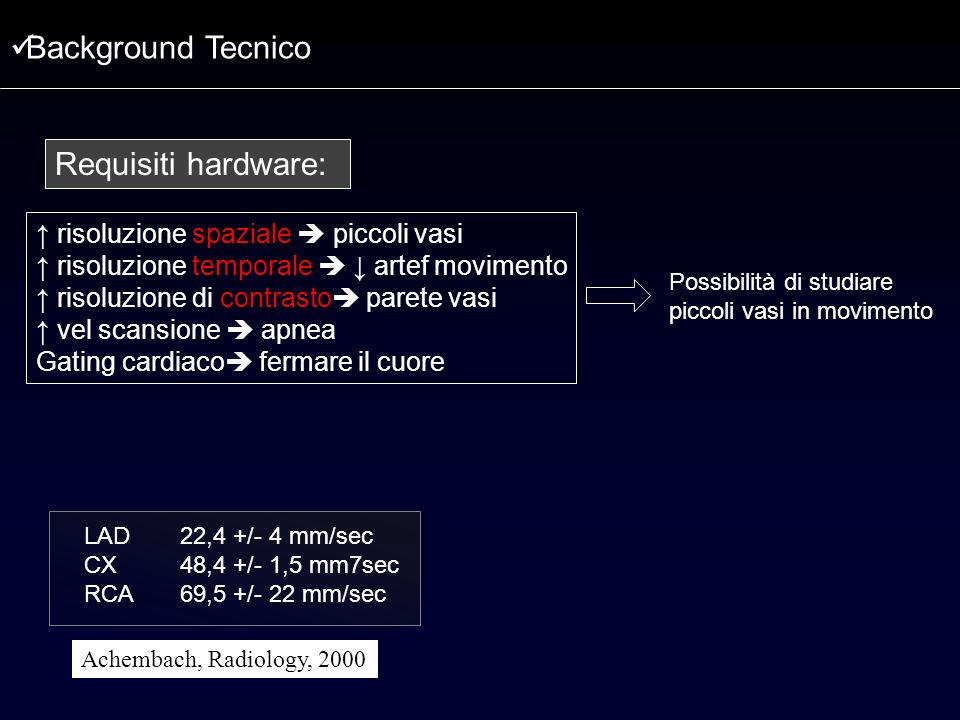 Background Tecnico Requisiti hardware: