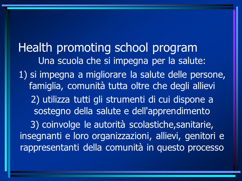 Health promoting school program