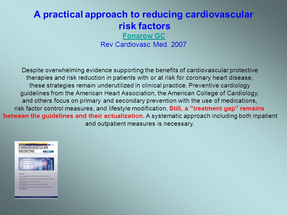 A practical approach to reducing cardiovascular