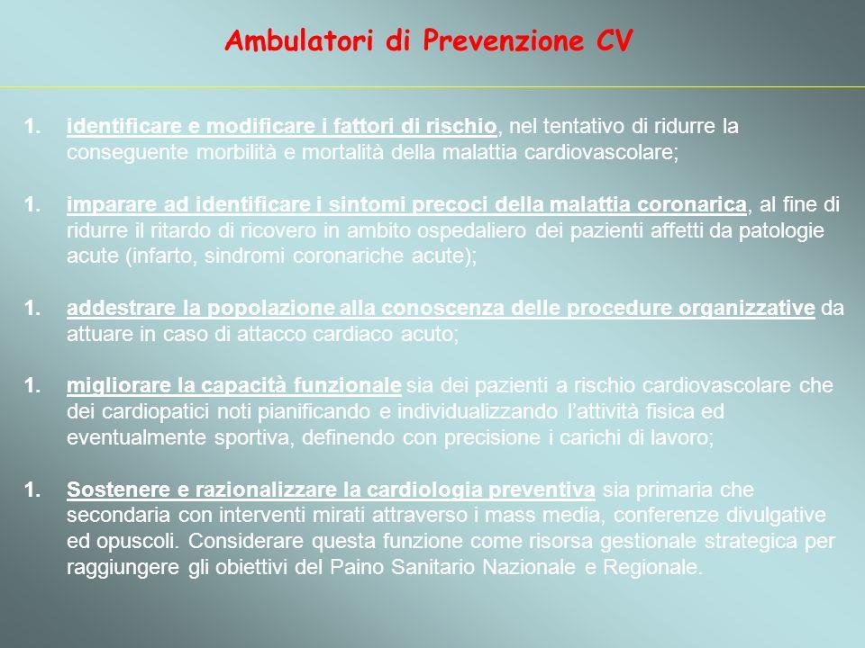 Ambulatori di Prevenzione CV