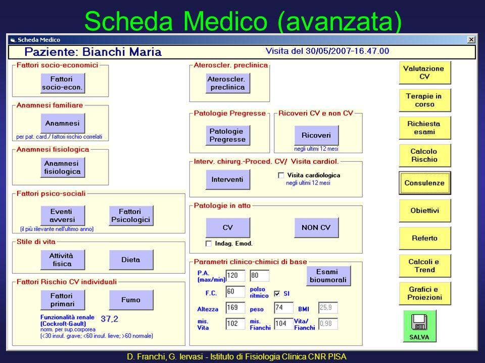 Scheda Medico (avanzata)