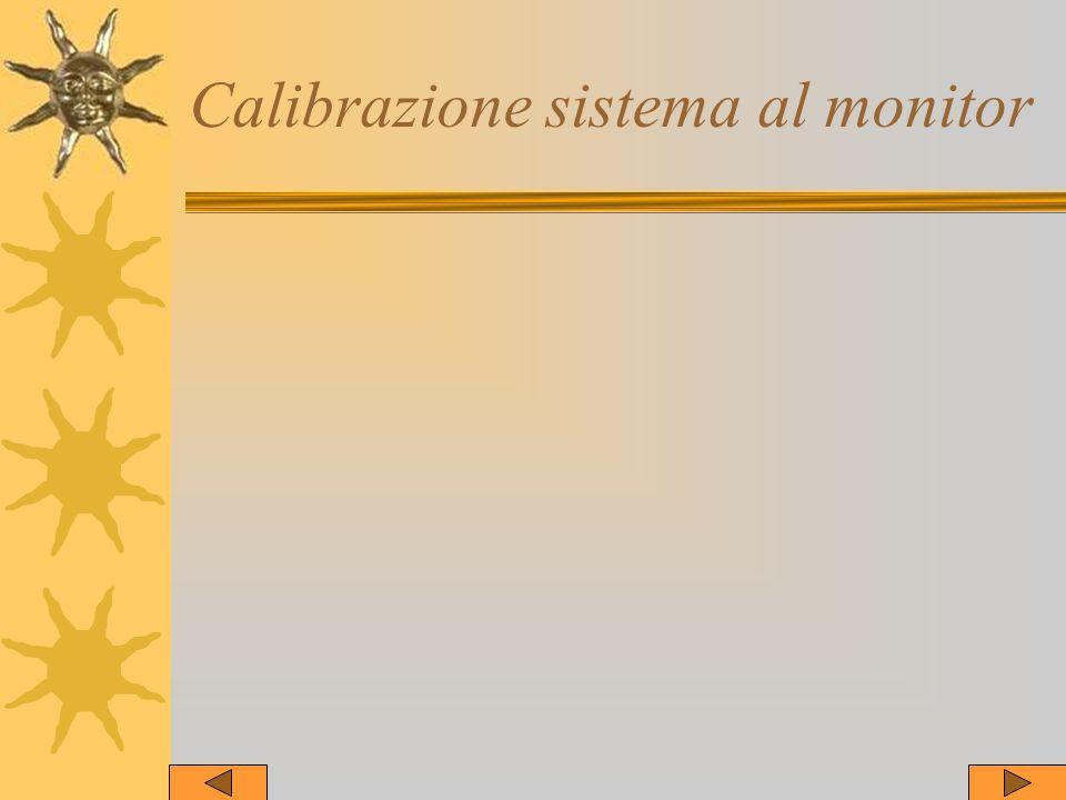 Calibrazione sistema al monitor