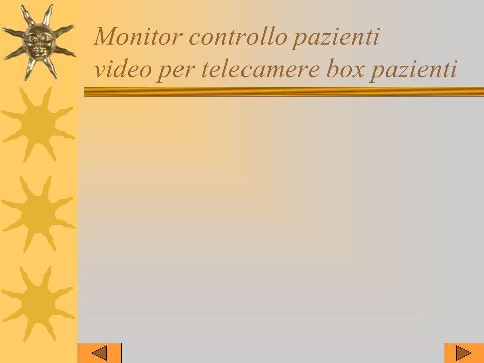 Monitor controllo pazienti video per telecamere box pazienti