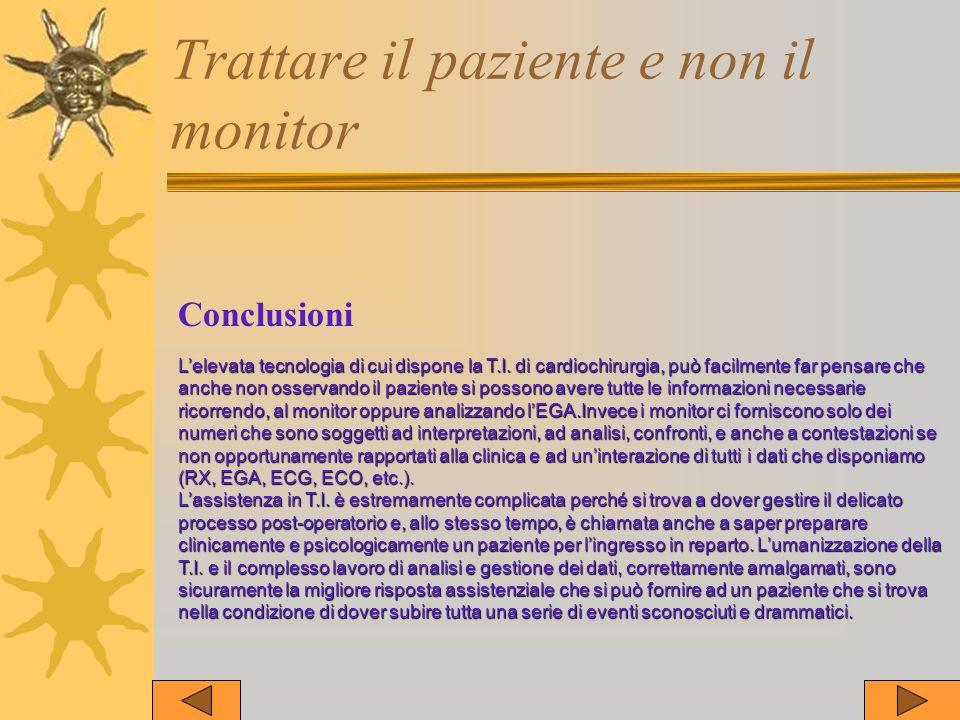 Trattare il paziente e non il monitor