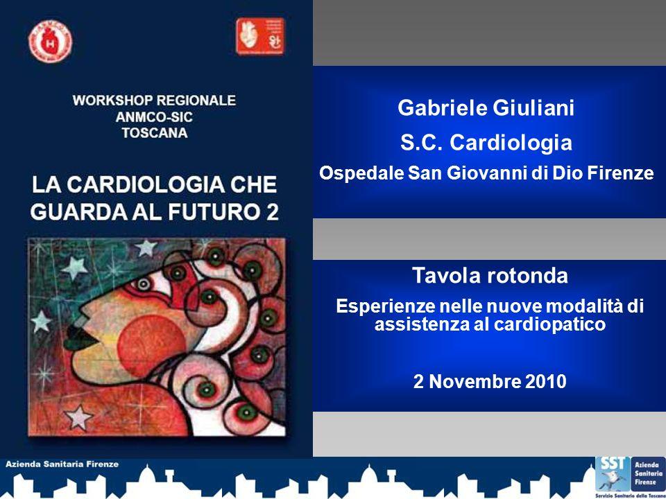 Gabriele Giuliani S.C. Cardiologia Tavola rotonda