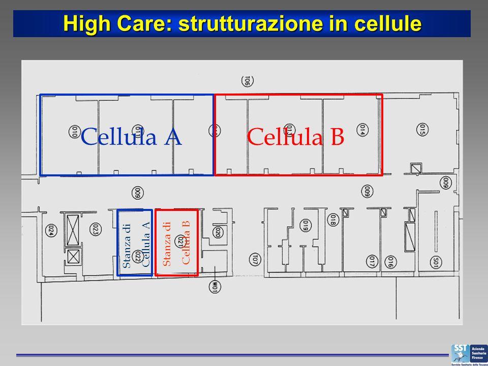 High Care: strutturazione in cellule
