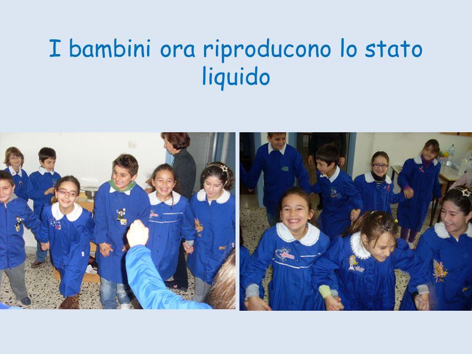 I bambini ora riproducono lo stato liquido