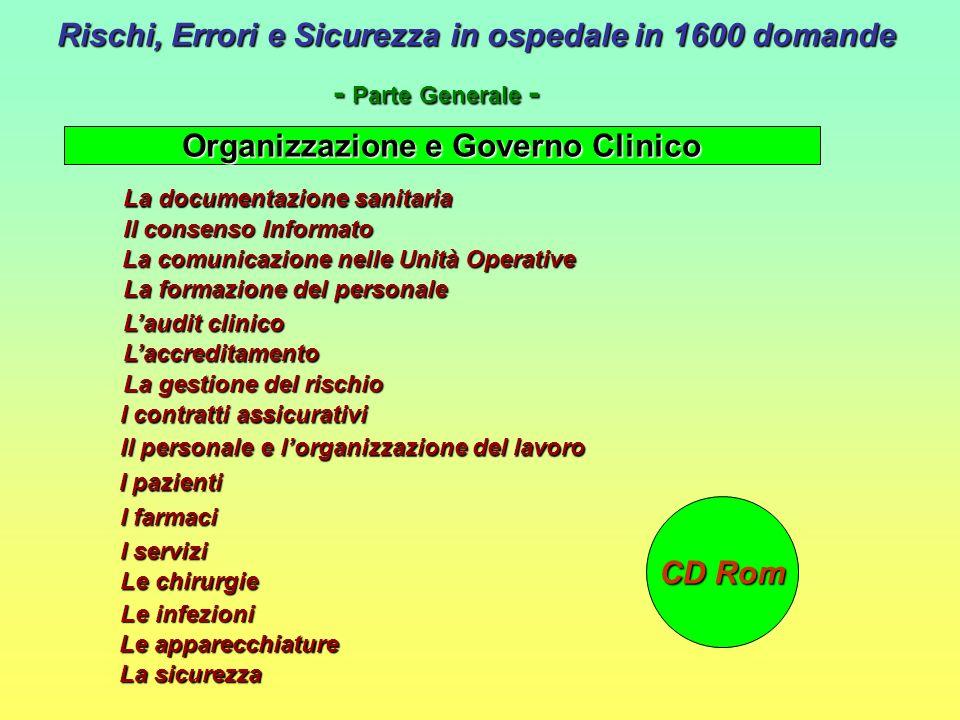 Organizzazione e Governo Clinico