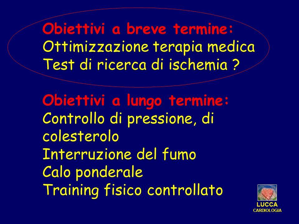 Obiettivi a breve termine: Ottimizzazione terapia medica