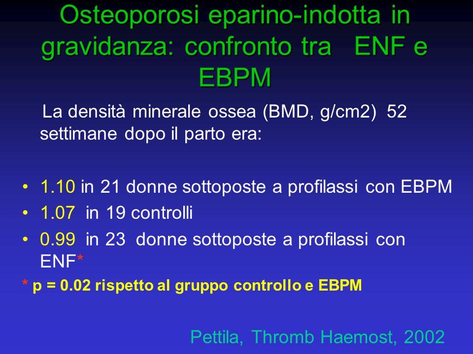 Osteoporosi eparino-indotta in gravidanza: confronto tra ENF e EBPM