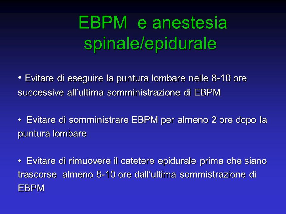 EBPM e anestesia spinale/epidurale