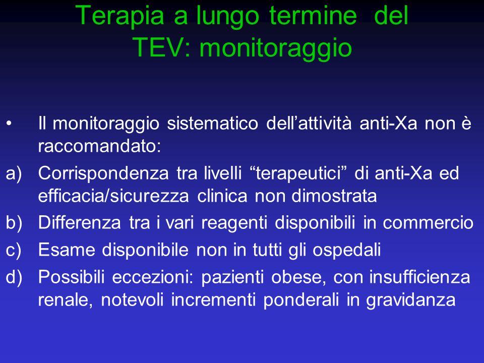 Terapia a lungo termine del TEV: monitoraggio