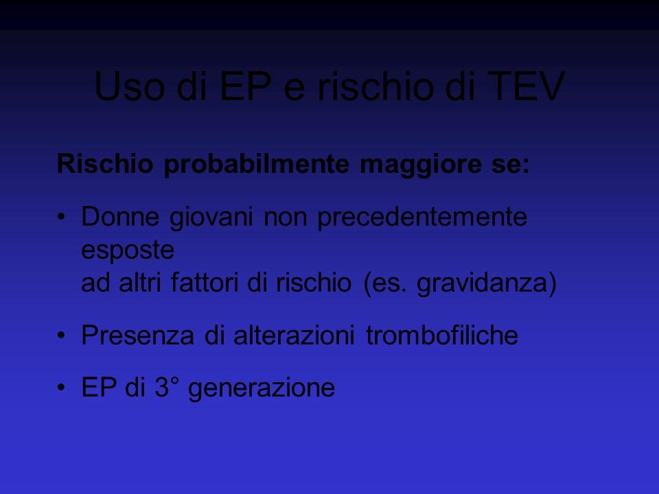 Uso di EP e rischio di TEV