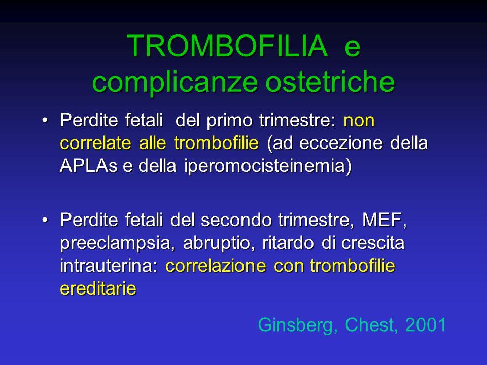 TROMBOFILIA e complicanze ostetriche