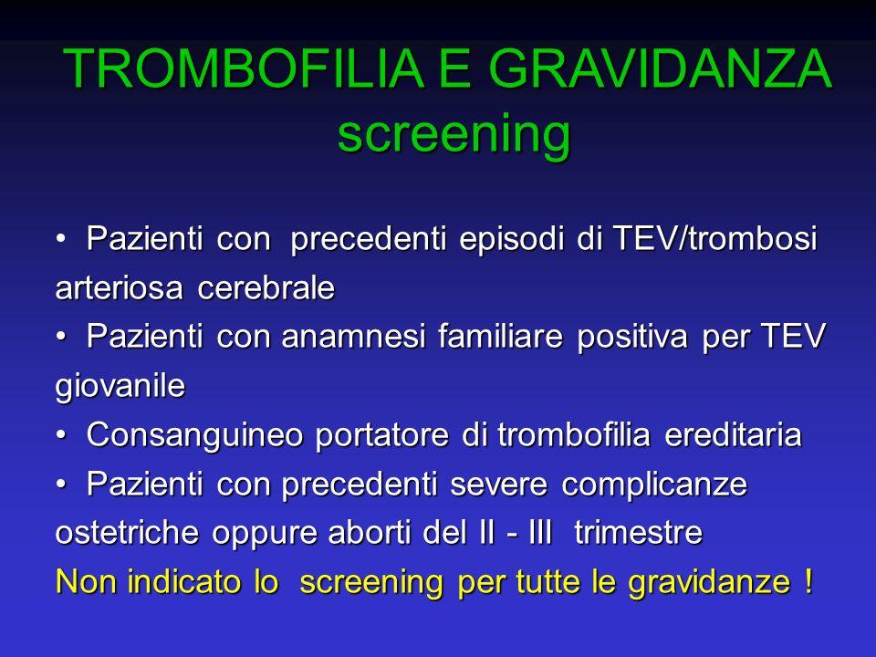 TROMBOFILIA E GRAVIDANZA