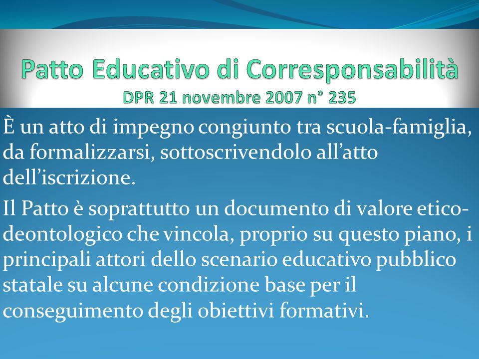 Patto Educativo di Corresponsabilità DPR 21 novembre 2007 n° 235