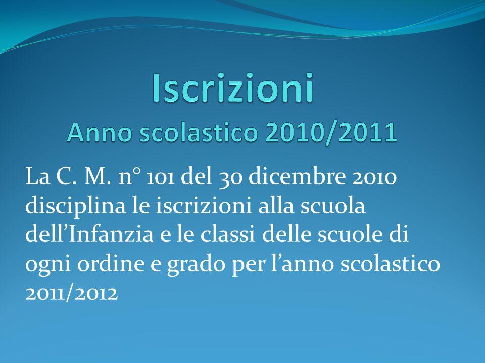 Iscrizioni Anno scolastico 2010/2011