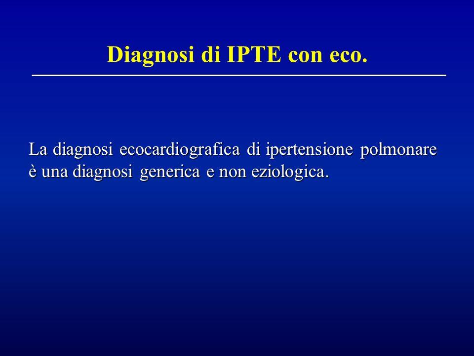 Diagnosi di IPTE con eco.