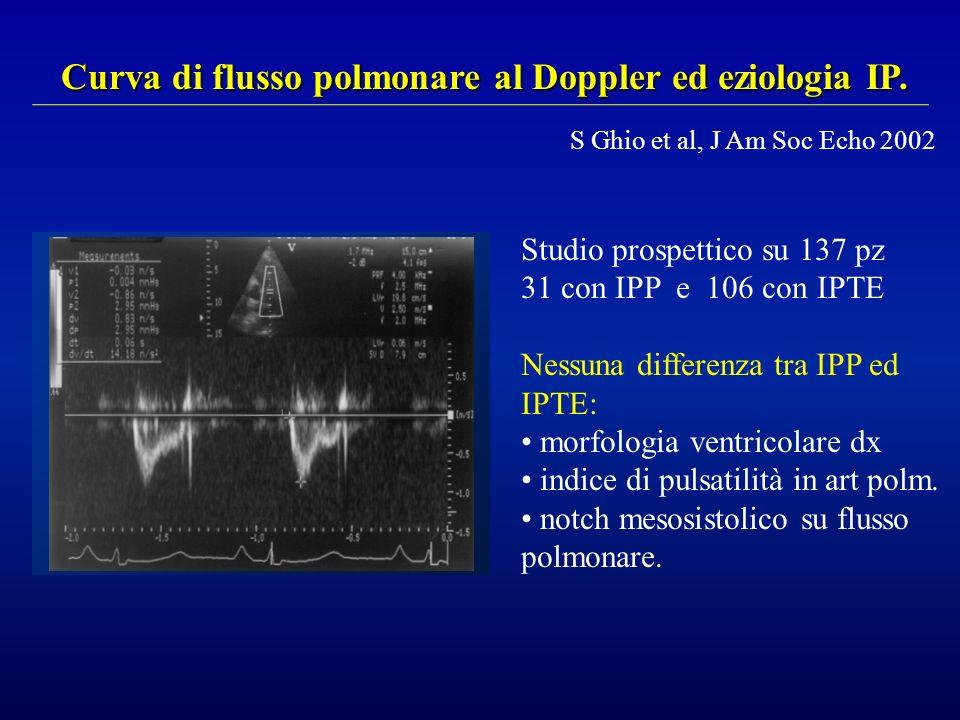 Curva di flusso polmonare al Doppler ed eziologia IP.