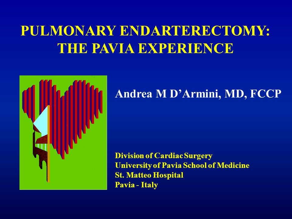 PULMONARY ENDARTERECTOMY: