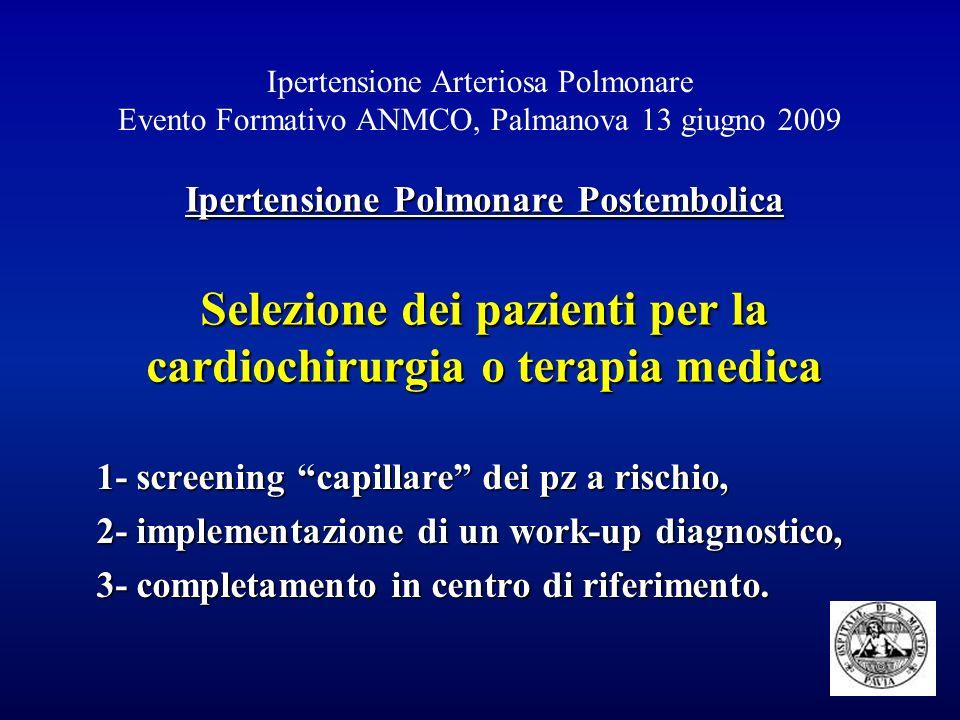 1- screening capillare dei pz a rischio,