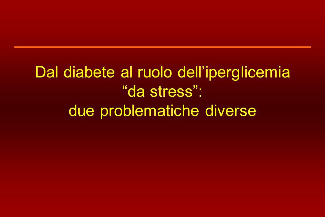 Dal diabete al ruolo dell'iperglicemia da stress : due problematiche diverse