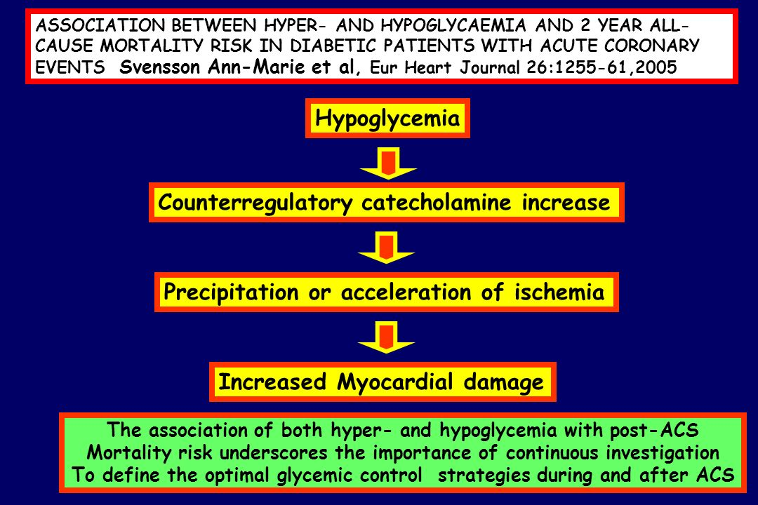 Counterregulatory catecholamine increase