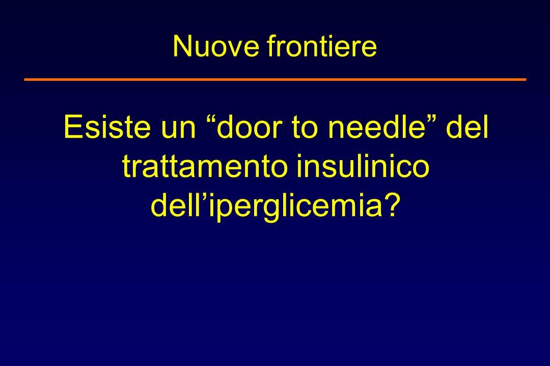 Nuove frontiere Esiste un door to needle del trattamento insulinico dell'iperglicemia