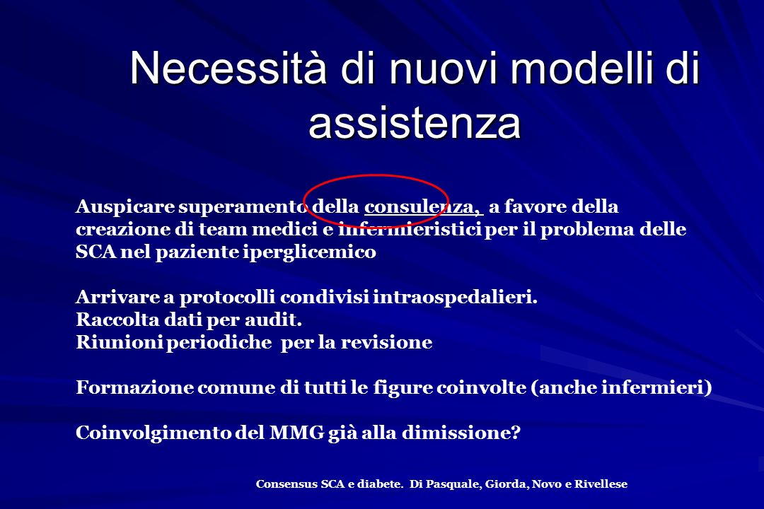 Necessità di nuovi modelli di assistenza