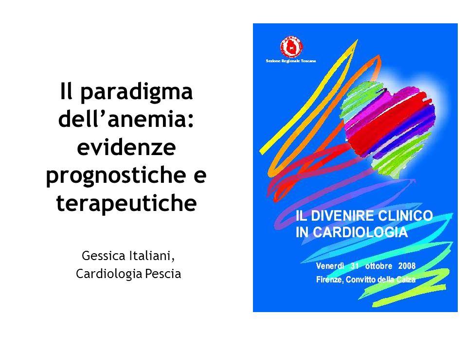 Il paradigma dell'anemia: evidenze prognostiche e terapeutiche