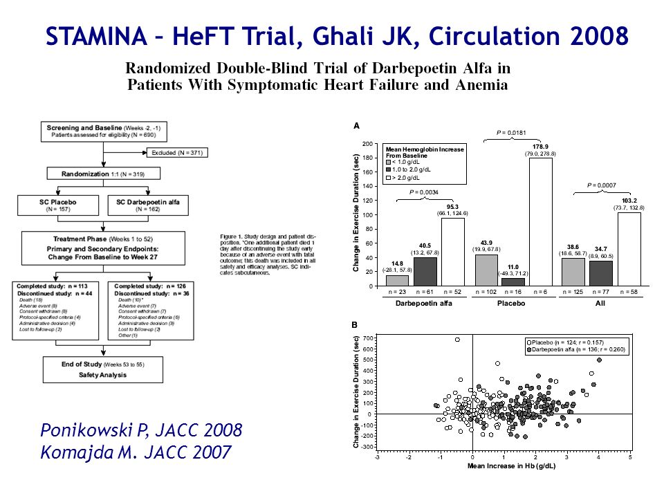 STAMINA – HeFT Trial, Ghali JK, Circulation 2008