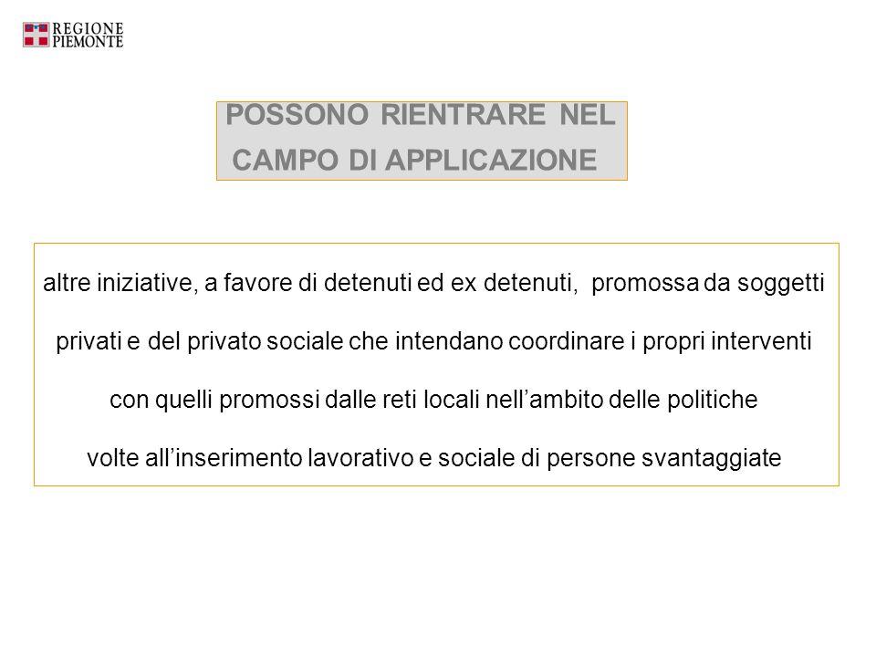 POSSONO RIENTRARE NEL CAMPO DI APPLICAZIONE