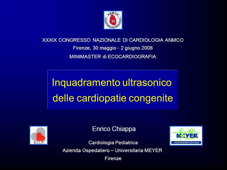 Inquadramento ultrasonico delle cardiopatie congenite