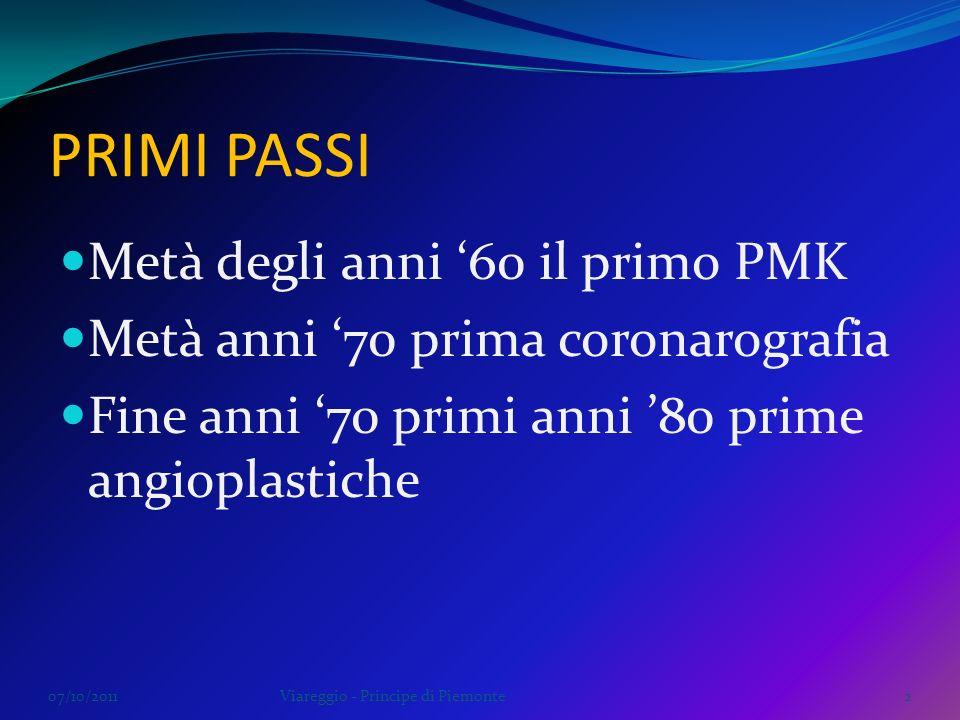 PRIMI PASSI Metà degli anni '60 il primo PMK
